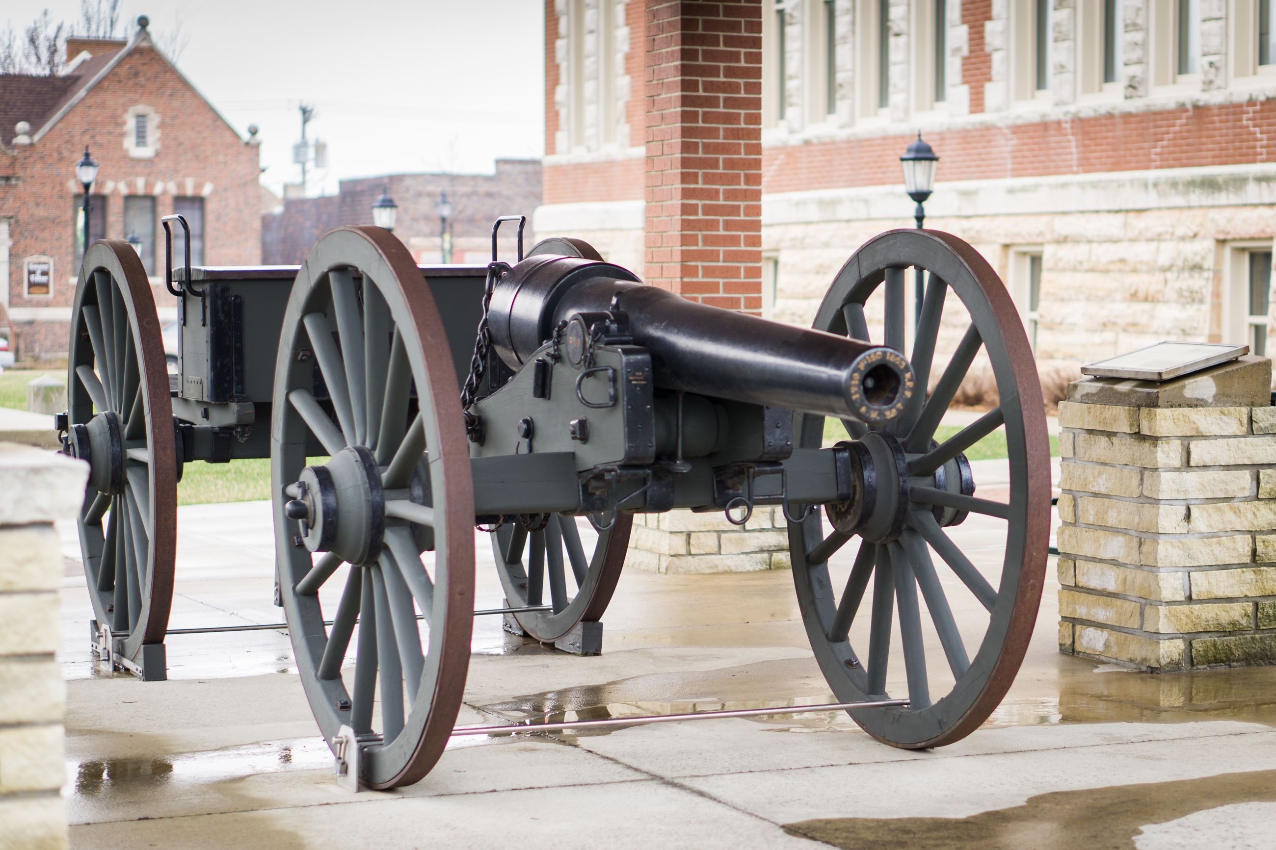 Cannon on Courthouse Grounds